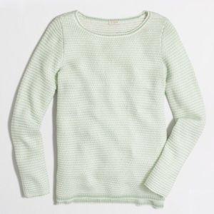 J. Crew Chevron Stitch Mint Green Sweater | S